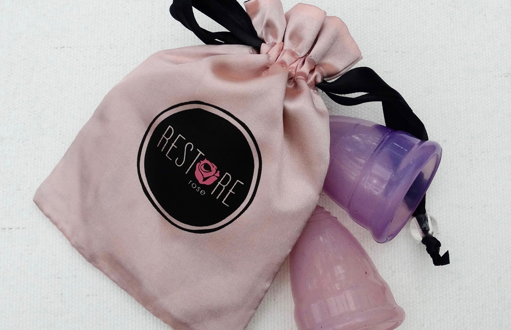 Restore Rose menstrual cup
