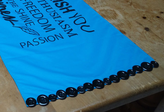Table Runners In Blue   Detail