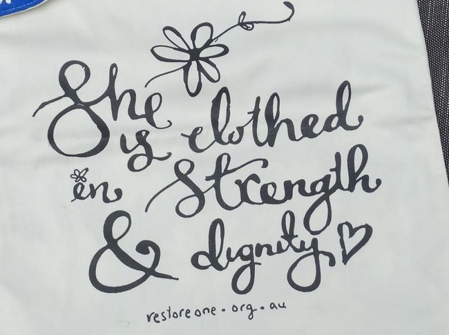 She is clothed in strength and dignity - Tote bag