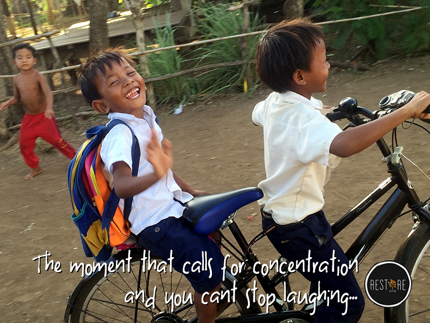 The moment that calls for concentration…