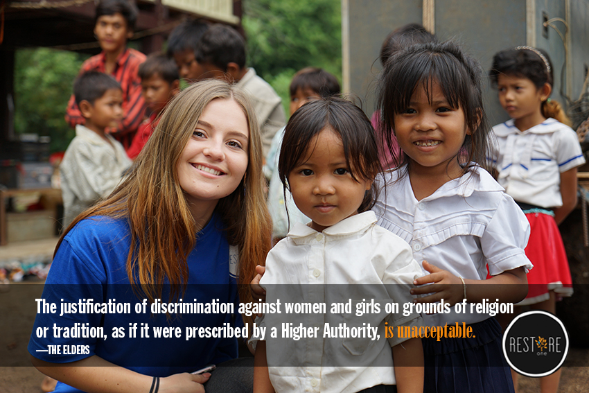 The discrimination against women and girls is unacceptable