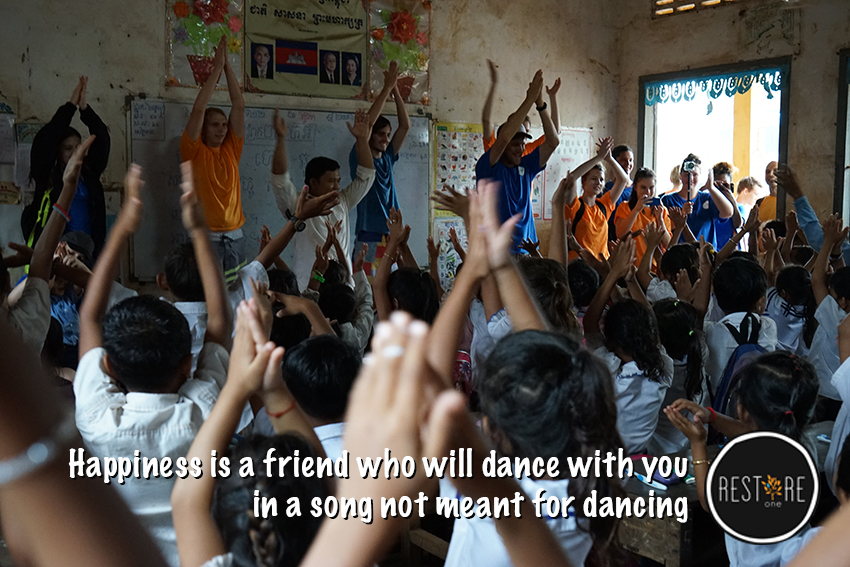 Happiness is a friend who will dance with you