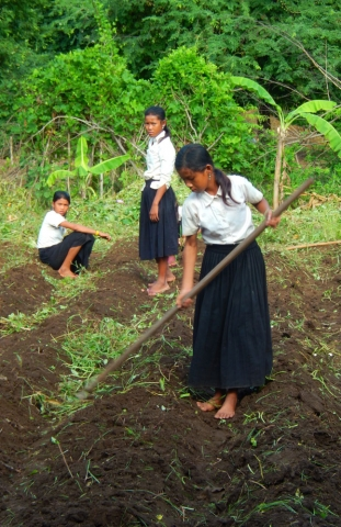Restore One School agriculture class