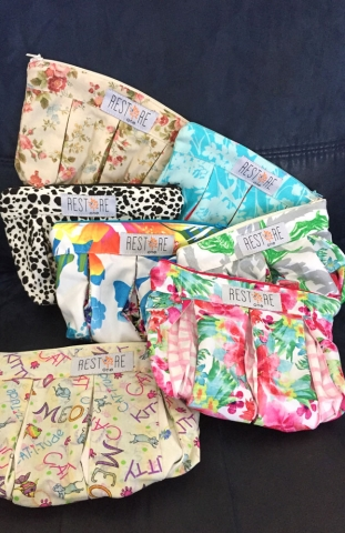 Restore One sewing project makeup bags