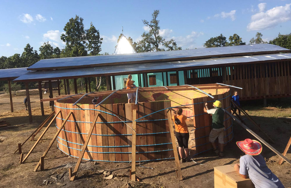 Thai-Myanmar Border water tank