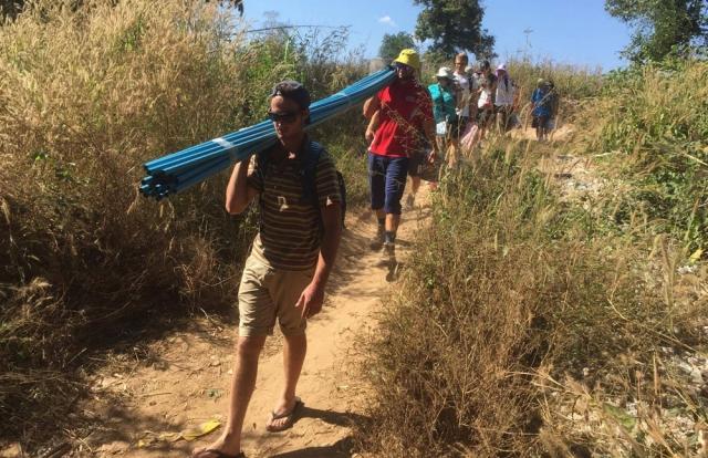 Thai-Myanmar Border carrying supplies