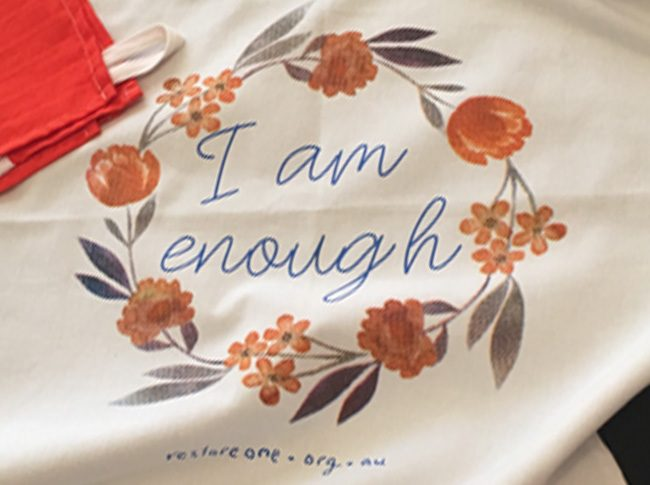 Tea towel I am enough