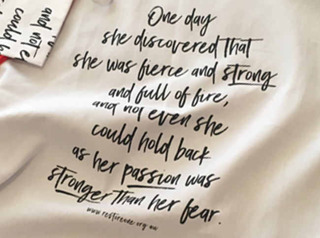 Tea towel fierce and strong