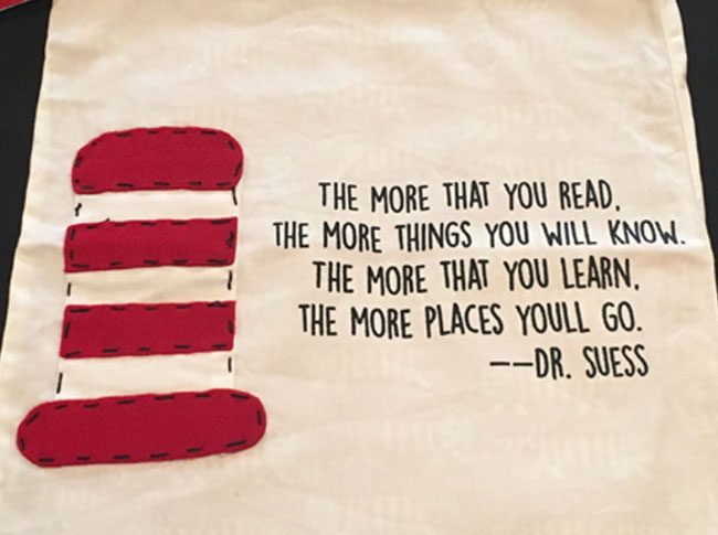 Tote bags Dr Suess quote