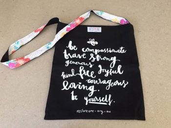Tote bags black be compassionate