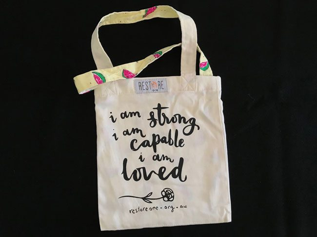 Tote bags kids- I am strong