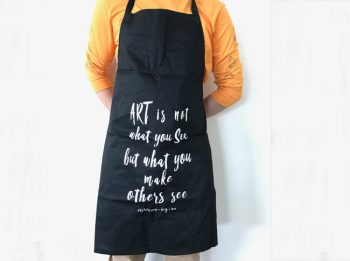 Aprons adults: art is not what you see