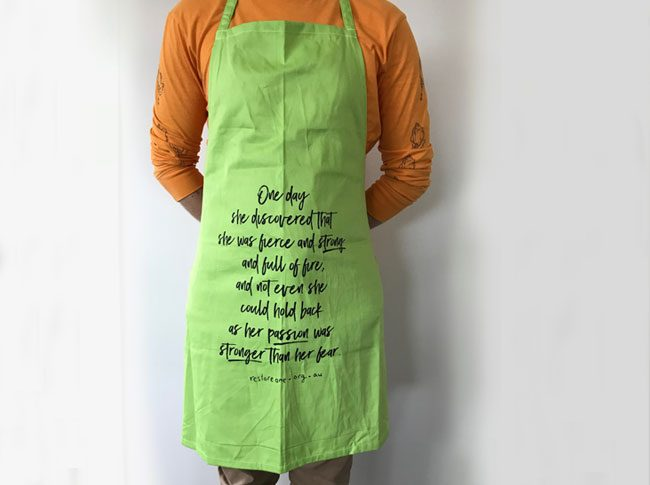 Aprons adults: fierce and strong