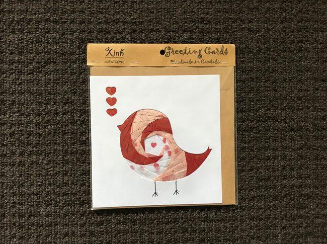 Greeting cards birdie