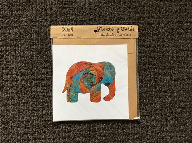 Greeting cards elephant