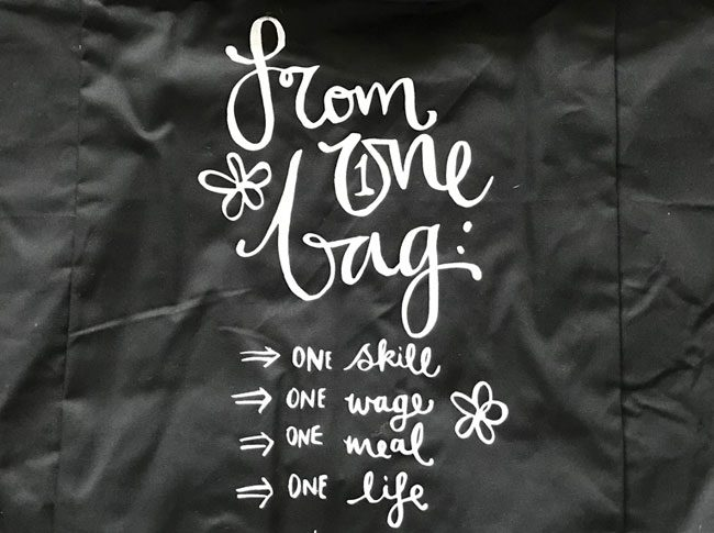 Large tote bags - from one bag