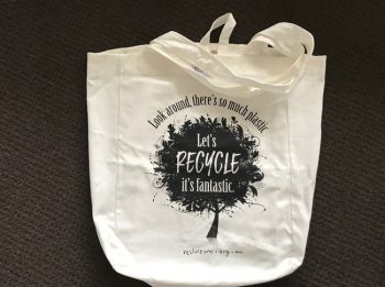 Large tote bags - lets recycle