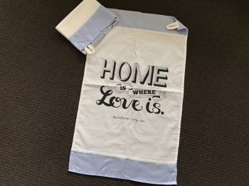 Tea Towel: Home is where love is