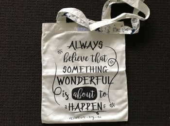 Tote bags - always believe