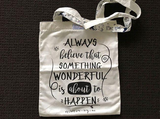 Tote bags - always believe