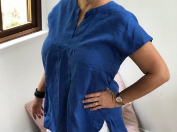 Ladies linen shirts - short sleeve