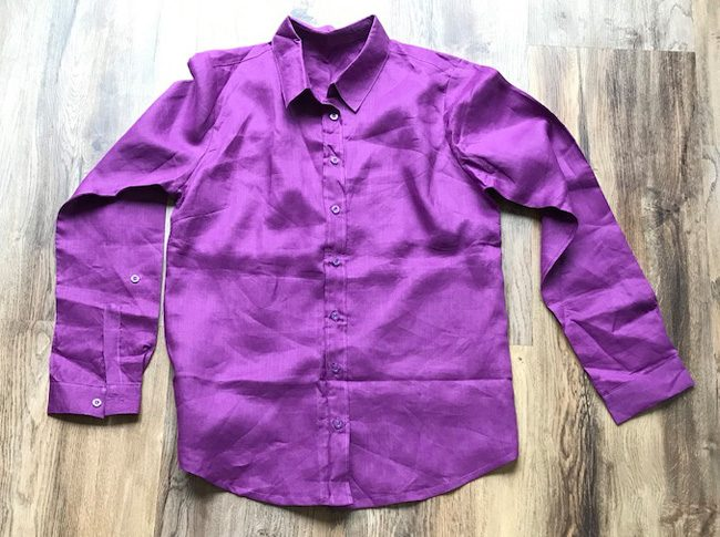 Ladies linen shirts sz8-10 plum