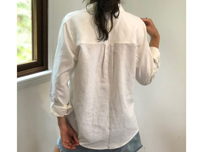 Ladies linen shirts sz8-10 white