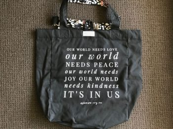 Large tote bags - our world