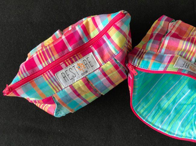 MakeUp Bags pink tartan