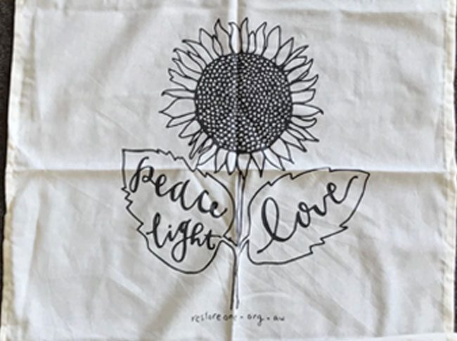 Tea Towel - sunflower