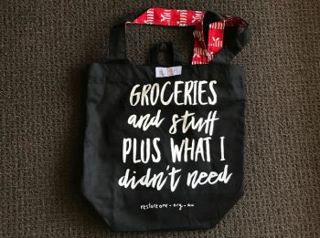 Tote bag black groceries