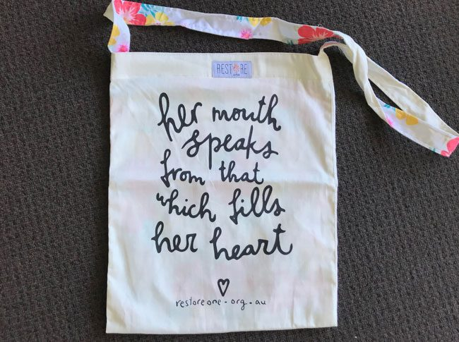 Tote bags - her mouth speaks