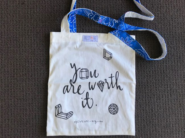 Tote bags - you are worth it