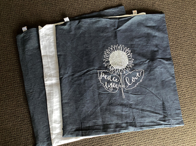 European pillowcases denim