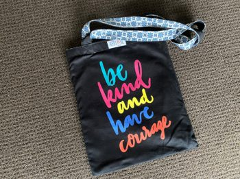 Tote bag black, be kind
