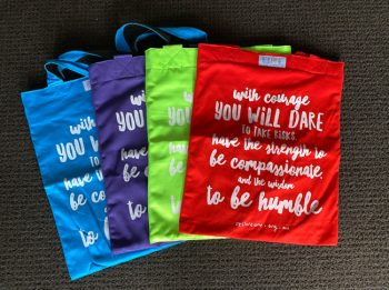 Tote bag coloured, courage