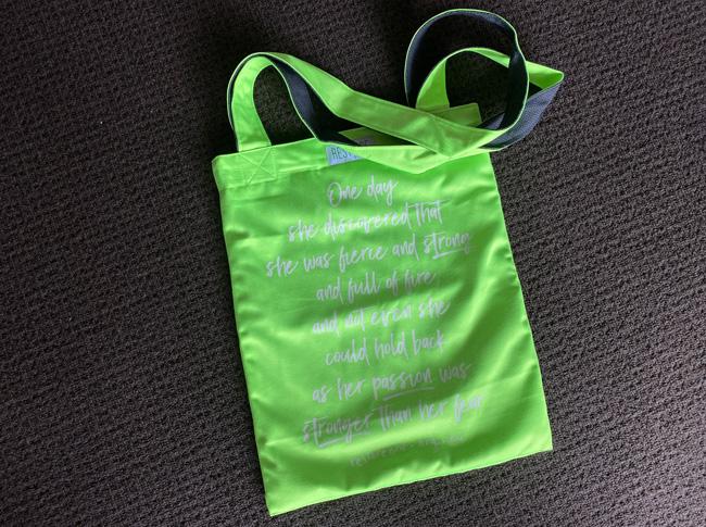 Tote bag coloured, fierce, fluro green