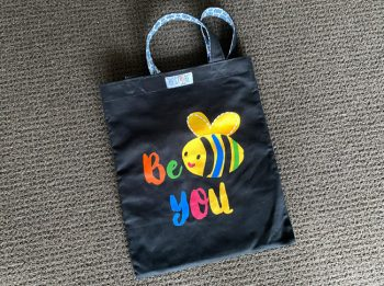 Tote bag black, kids, Be You
