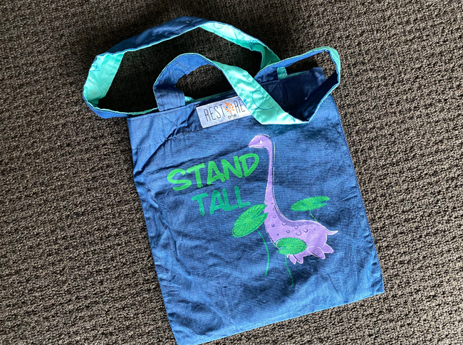 Tote bag kids, dino