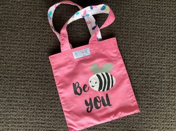 Tote bag kids, pink, Be You