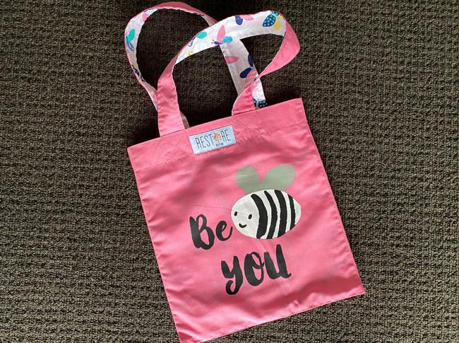 Tote bag kids, pink, Be You