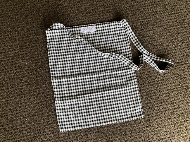 Tote bags, unlined black check