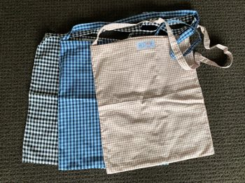 Tote bags, unlined