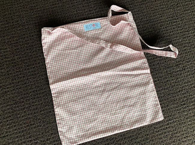 Tote bags, unlined dusty pink check