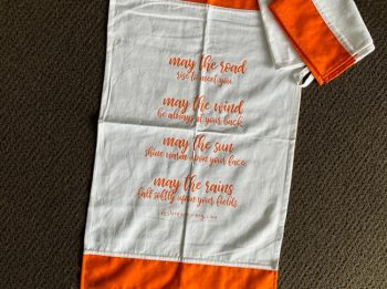 Tea towel - May the road rise to meet you