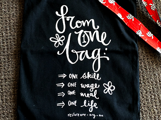 Tote bag black, From 1 bag